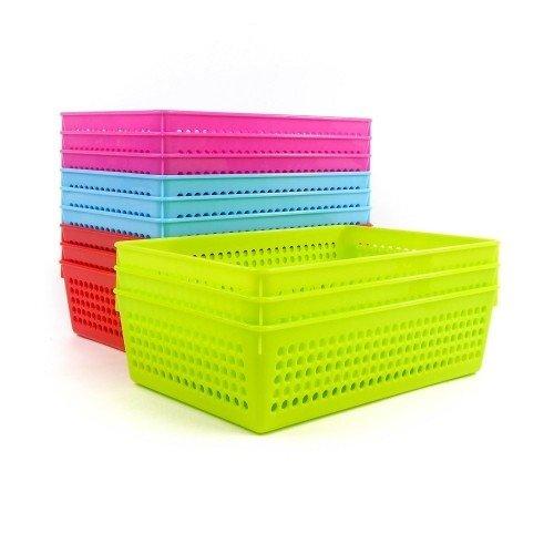 Pack 12 coladores de cultivo de plástico colores 22x15x6 cm