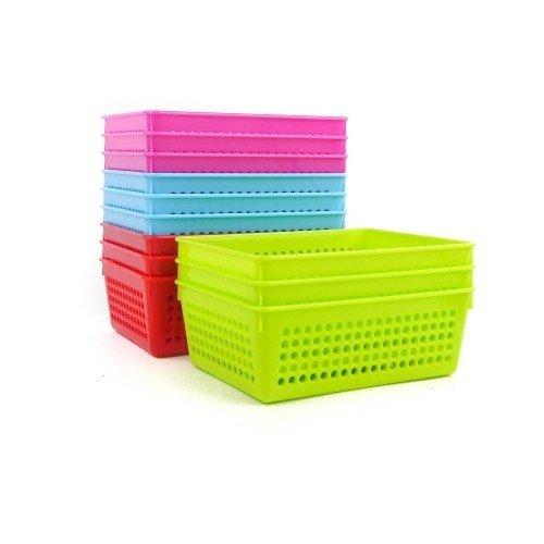 Pack 12 coladores de cultivo de plástico colores 18x13x6 cm