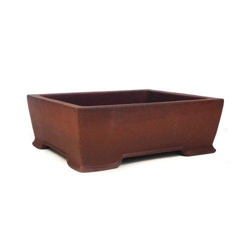 Tiesto YIXING rectangular marrón sin esmaltar 27,5x22x10 cm
