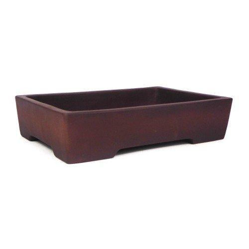 Tiesto YIXING rectangular marrón sin esmaltar 30x21x7 cm