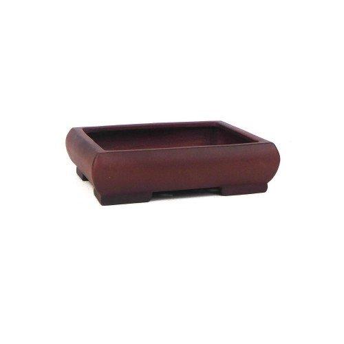 Tiesto YIXING rectangular marrón sin esmaltar 18x15x4,5 cm