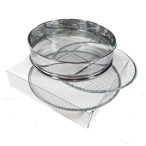 Cedazo chino en acero inox. 300 mm de diámetro con 3 mallas
