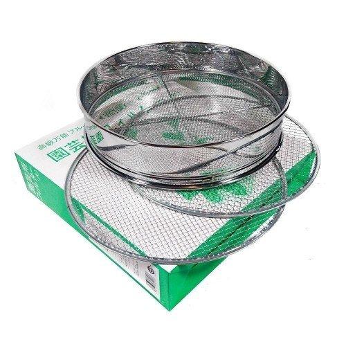 Cedazo japonés en acero inox. 300 mm de diámetro con 3 mallas