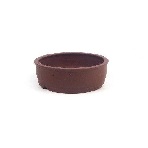 Tiesto YIXING redondo marrón sin esmaltar 11,5x4 cm
