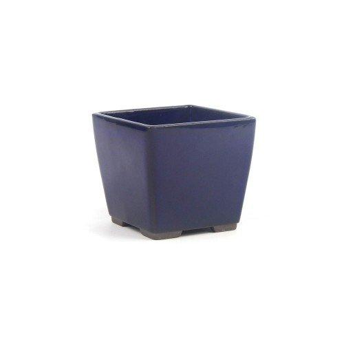 Tiesto YOKKAICHI azul oscuro esmaltado 8,5x8,5x7,5 cm