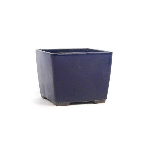 Tiesto YOKKAICHI azul oscuro esmaltado 11,5x11,5x9 cm