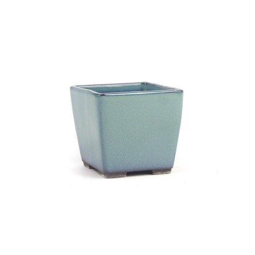 Tiesto YOKKAICHI verde agua esmaltado 8,5x8,5x7,5 cm