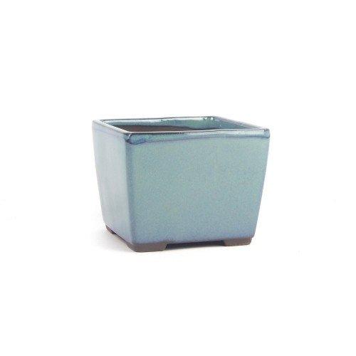 Tiesto YOKKAICHI verde agua esmaltado 11,5x11,5x9 cm