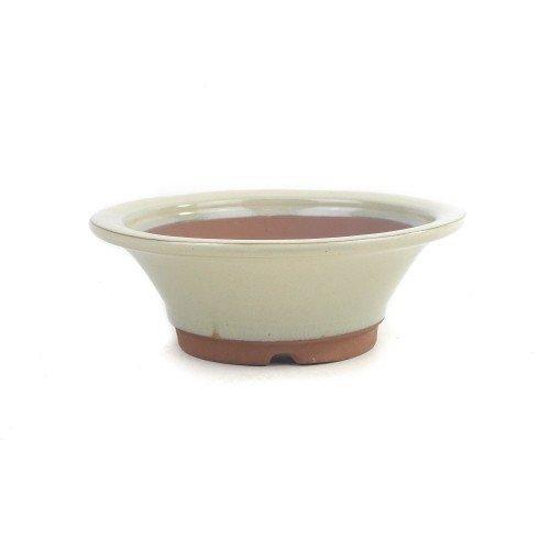 Tiesto YOKKAICHI redondo crema esmaltado  19x6,5 cm