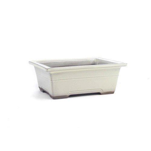 Tiesto YOKKAICHI rectangular crema esmaltado 18,5x13,5x7 cm