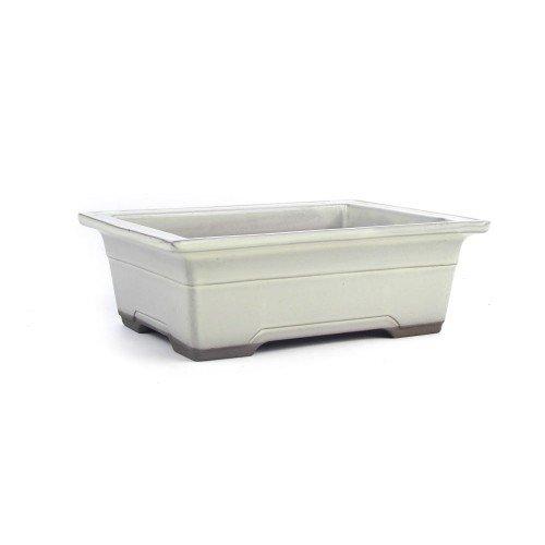 Tiesto YOKKAICHI rectangular crema esmaltado 21,5x15,5x8 cm