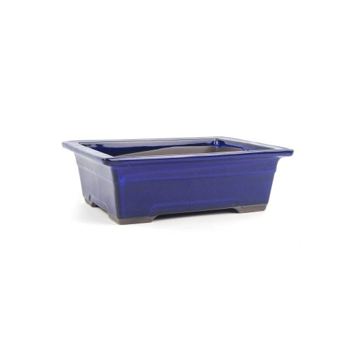 Tiesto YOKKAICHI rectangular azul esmaltado 18,5x13,5x7 cm
