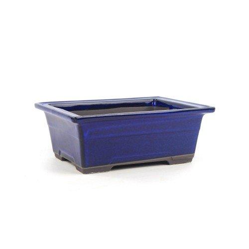 Tiesto YOKKAICHI rectangular azul esmaltado 21,5x15,5x8 cm