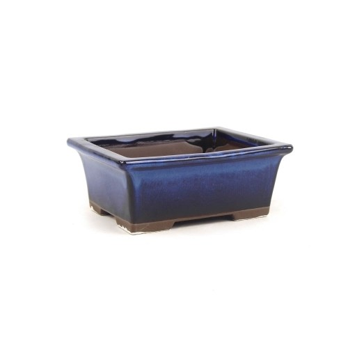 Tiesto YOKKAICHI rectangular azul esmaltado 13,5x10,5x5.5 cm