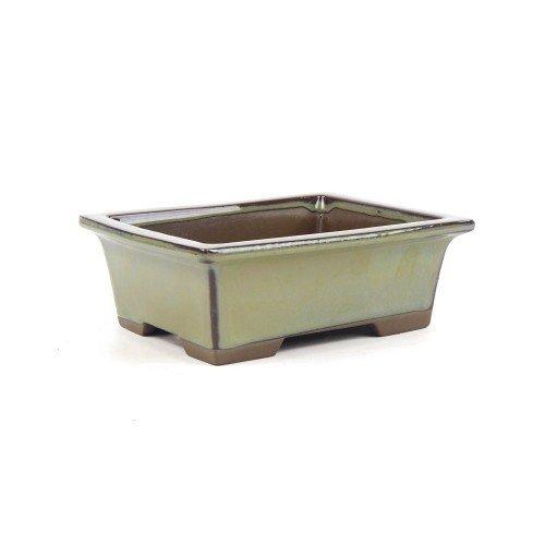 Tiesto YOKKAICHI rectangular verde esmaltado 16x13x6 cm