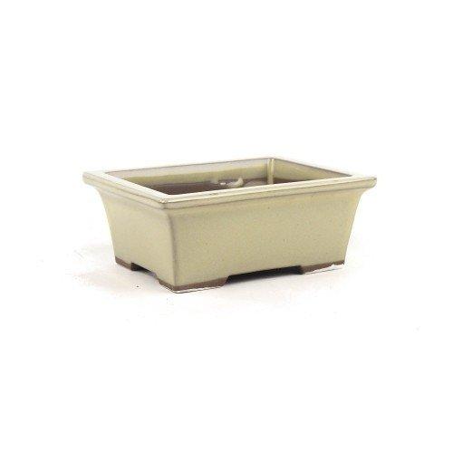 Tiesto YOKKAICHI rectangular crema esmaltado 13,5x10,5x5.5 cm