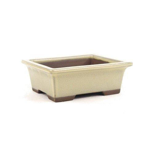 Tiesto YOKKAICHI rectangular crema esmaltado 16x13x6 cm
