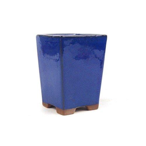 Tiesto cascada color azul esmaltado 10,5x10,5x14,5 cm