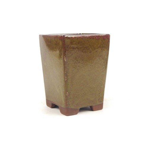 Tiesto cascada color óxido esmaltado 10,5x10,5x14,5 cm