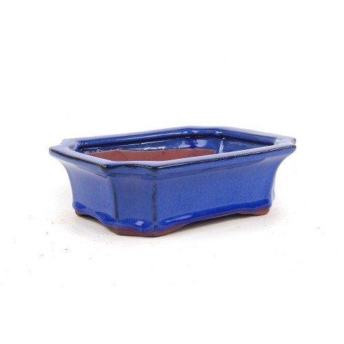 Tiesto rectangular color azul esmaltado 21x15,7x6,5 cm