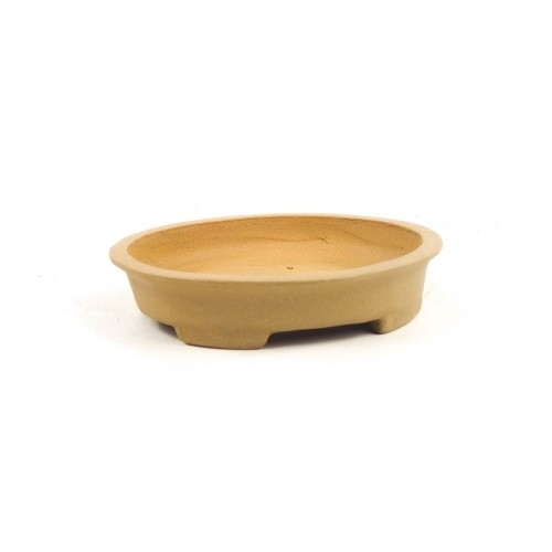 Tiesto ovalado yixing Kanda sin esmaltar 15,5x14x3,5 cm