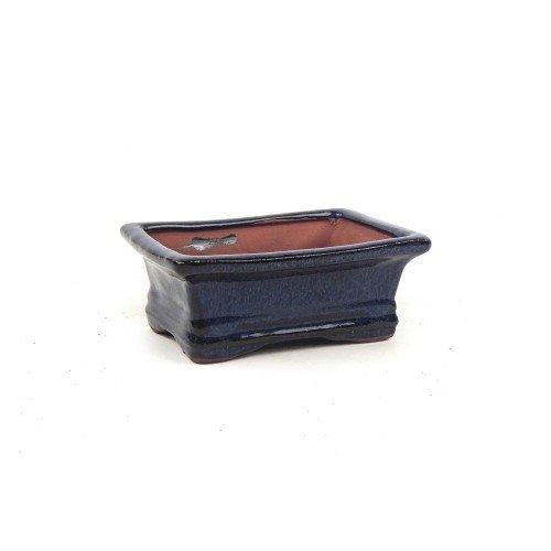 Tiesto rectangular color azul esmaltado 12,5x12,5x5 cm