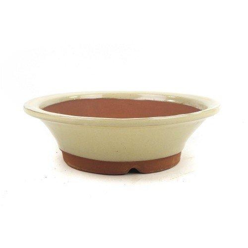 Tiesto YOKKAICHI redondo crema esmaltado 25x8 cm