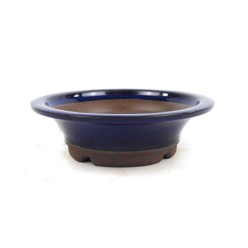 Tiesto YOKKAICHI redondo azul esmaltado 22x6,5 cm