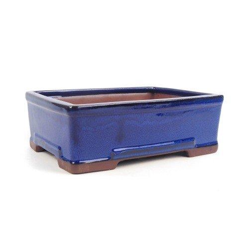 Tiesto rectangular color azul esmaltado 26,5x19x8,5 cm