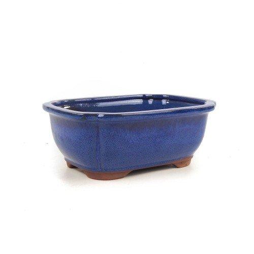 Tiesto rectangular color azul esmaltado 21,5x16x8 cm