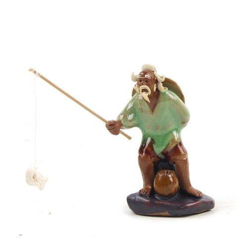 Figura pescador 1 de cerámica china selección PLENITUD 7 cm