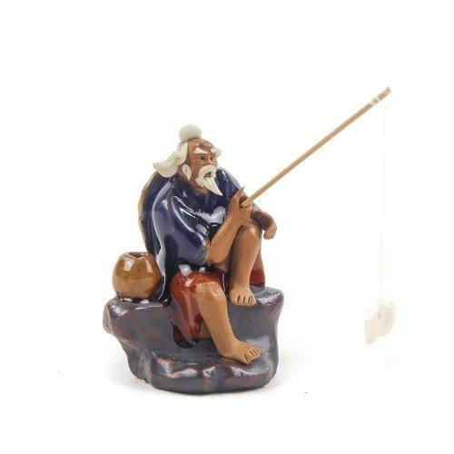 Figura pescador 4 de cerámica china selección PLENITUD 7 cm