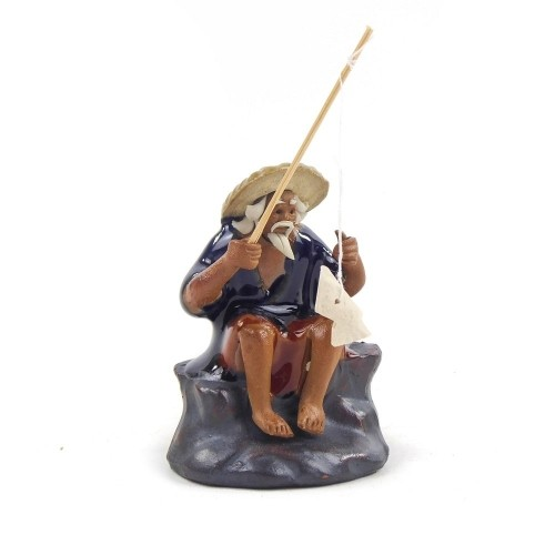 Figura pescador 5 de cerámica china selección PLENITUD 7 cm