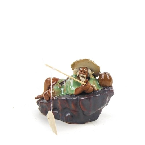 Figura pescador 8 de cerámica china selección PLENITUD 7 cm
