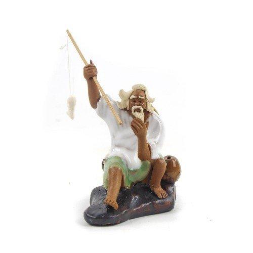 Figura pescador 7 de cerámica china selección PLENITUD 7 cm