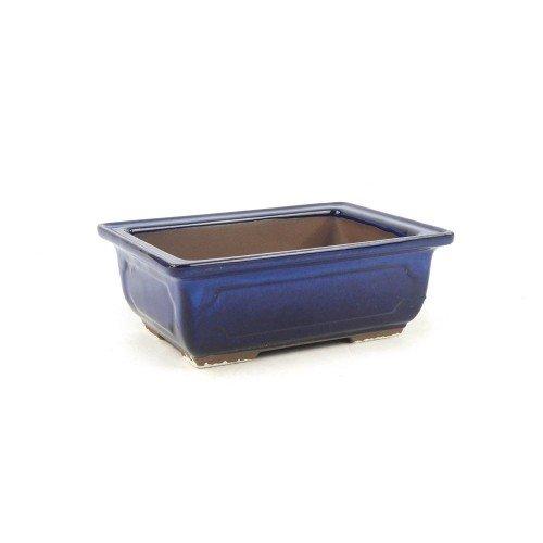 Tiesto MIZUTANI rectangular azul esmaltado 16,5x12x6 cm