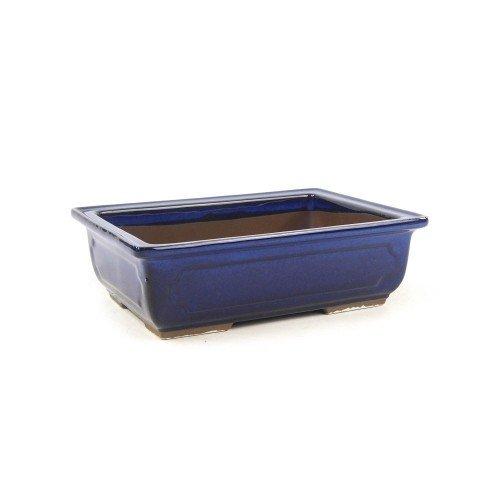 Tiesto MIZUTANI rectangular azul esmaltado 19,5x14,5x6 cm