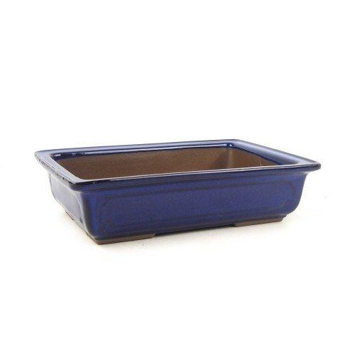 Tiesto YOKKAICHI rectangular azul esmaltado 23x16x6 cm
