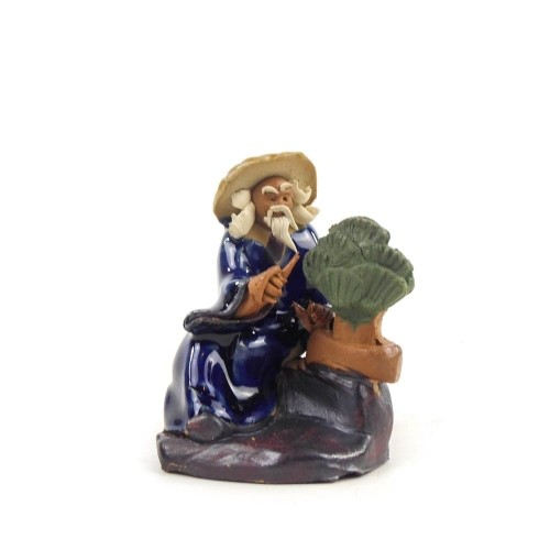 Figura bonsaísta 2 de cerámica china selección CREATIVIDAD 6 cm