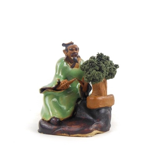 Figura bonsaísta 3 de cerámica china selección CREATIVIDAD 6 cm