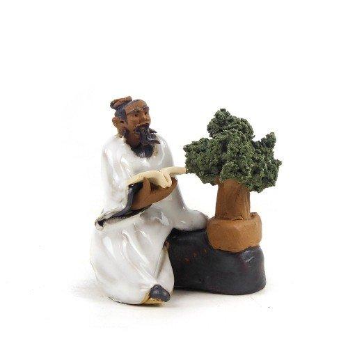 Figura bonsaísta 4 de cerámica china selección CREATIVIDAD 6 cm