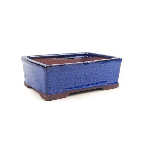 Tiesto rectangular color azul esmaltado 21x16x7 cm