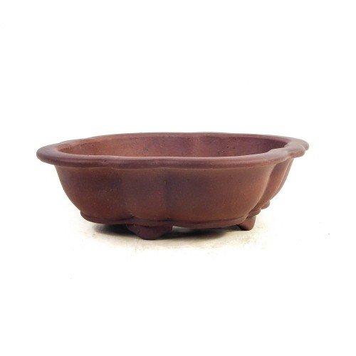 Tiesto YIXING mokko marrón sin esmaltar 26x23x7,5 cm