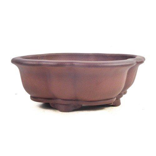 Tiesto YIXING mokko marrón sin esmaltar 31x28x11 cm