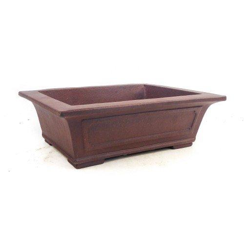 Tiesto YIXING rectangular marrón sin esmaltar 29,5x22,5x9 cm