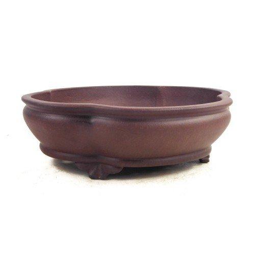 Tiesto YIXING mokko marrón sin esmaltar 31,5x28x9 cm