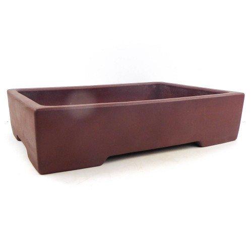 Tiesto YIXING rectangular marrón sin esmaltar 40x28x9 cm