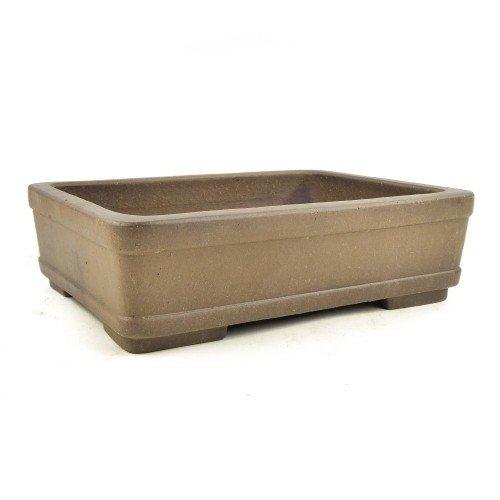 Tiesto YIXING rectangular marrón claro sin esmaltar 31x24x9 cm