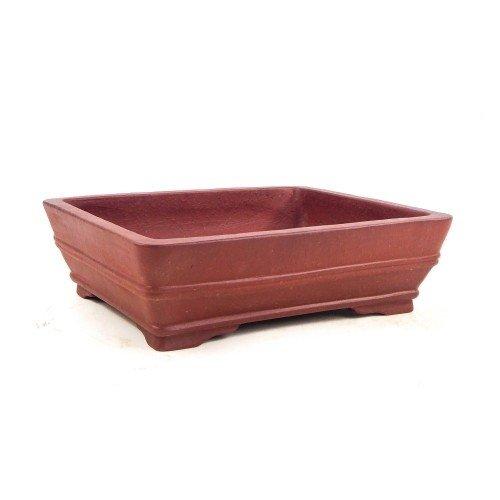 Tiesto YIXING rectangular marrón sin esmaltar 24x19x7 cm