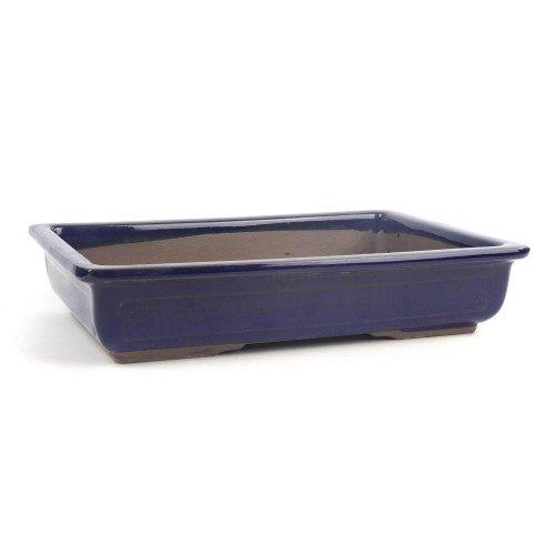 Tiesto YOKKAICHI rectangular azul esmaltado 30,5x20x6,5 cm